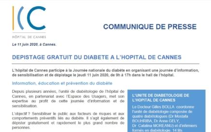illustration Journée de dépistage du diabète