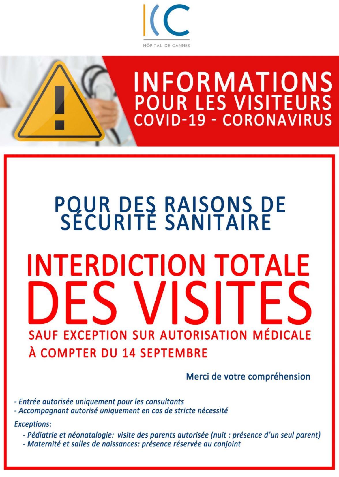 illustration COVID-19 : Interdiction totale des visites