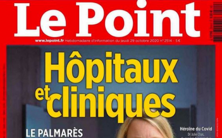 illustration L'hôpital de Cannes classé dans le Palmarès du Point 2020